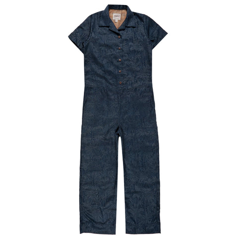 Women's - Jumpsuit - Double Jacquard Tropical Blue | Naked & Famous Denim
