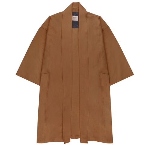 Women's - Overcoat - Rinsed Oxford - Camel | Naked & Famous Denim