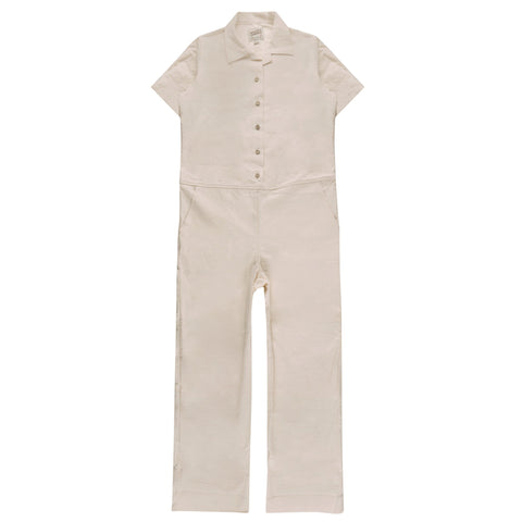 Women's - Jumpsuit - Rinsed Oxford - Off White
