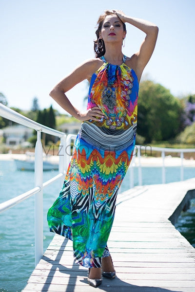 ARUBA Drawstring Dress-Vizcosa