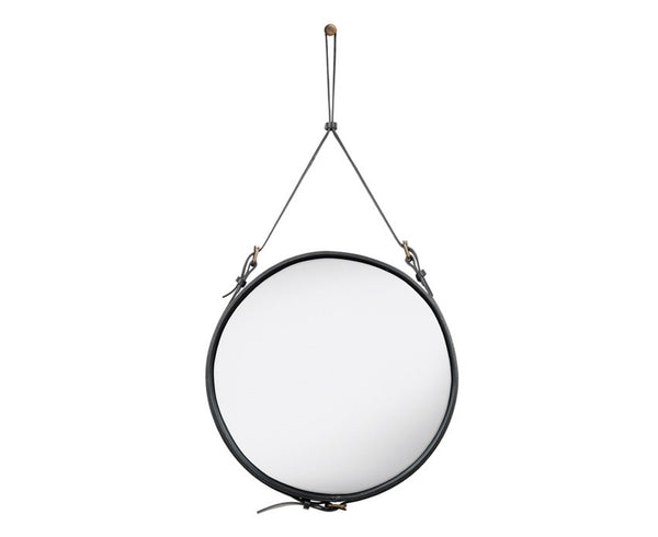 Gubi Adnet Circulaire Mirror - Black by Jacques Adnet | DSHOP