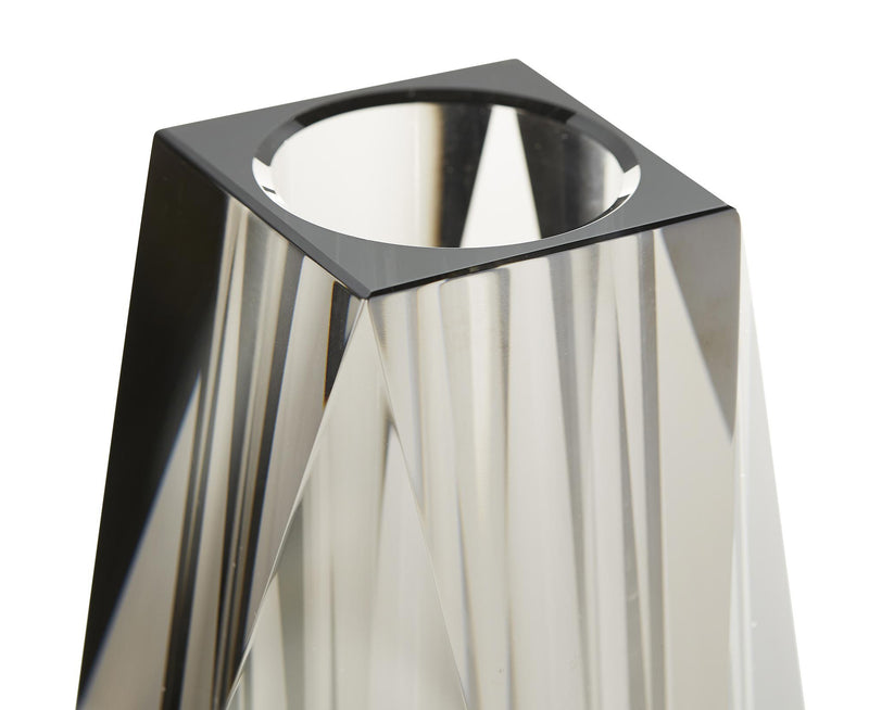 Modern Faceted Crystal Vase | DSHOP