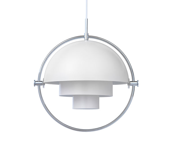 Multi-Light Pendant - Chrome/White | DSHOP