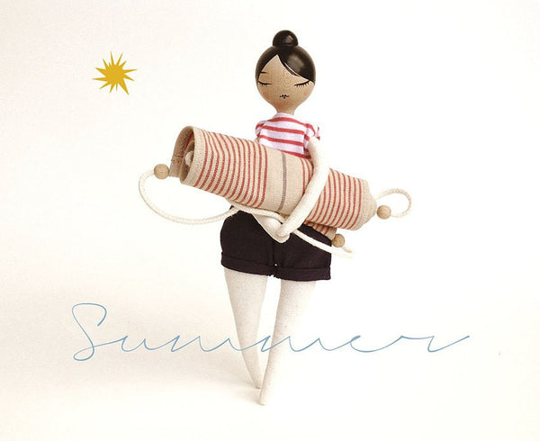 Handcrafted Marbushka Doll Summer Outfit