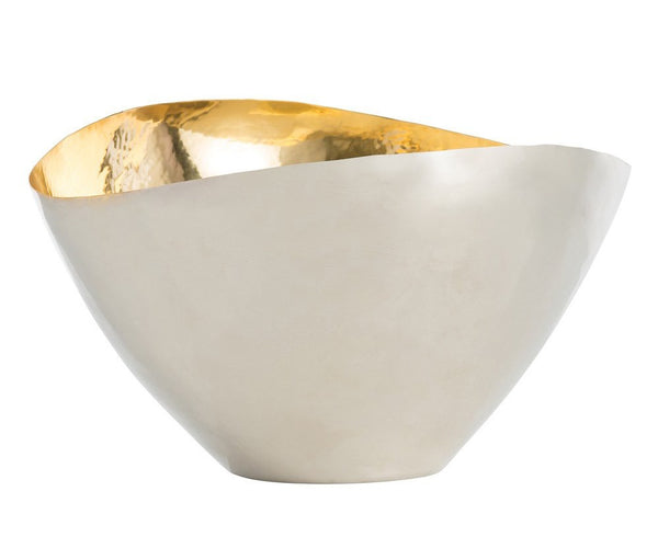Arteriors Millicent Centerpiece - Nickel & Brass Bowl