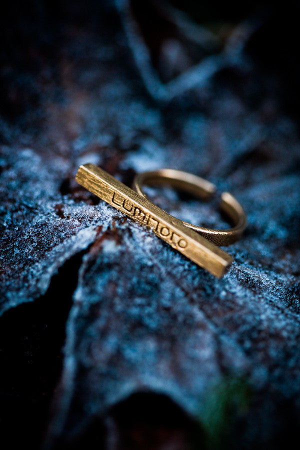 Stickii raw bronze ring I
