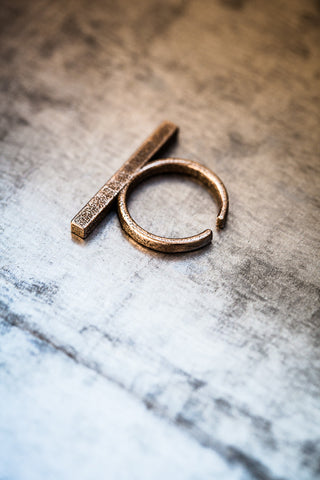 Stickii bronzed steel ring I