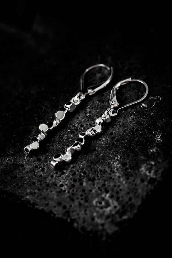 Tubii sterling silver polished earrings