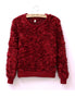 Fluffy 3D Rose Jumper (Red)