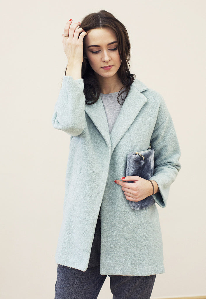 Textured Oversized Coat