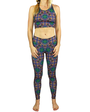 Cubed  Pattern Active Leggings