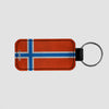Norwegian Flag - Leather Keychain - Airportag
