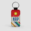 NAP - Leather Keychain - Airportag
