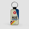 NUE - Leather Keychain - Airportag