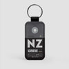 NZ - Leather Keychain - Airportag