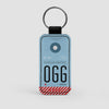 OGG - Leather Keychain - Airportag