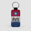 RVS - Leather Keychain - Airportag