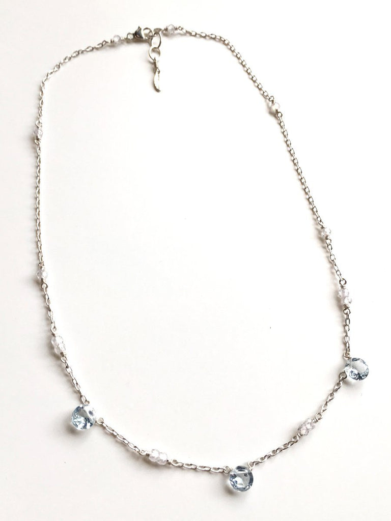 Sky Crystal Simple Necklace