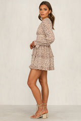 Straight To You Dress (Beige)