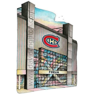 Montreal Forum Hockey Poster