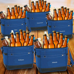 Groomsmen Gift Set of 5 Trail Coolers With Built-In Bottle Opener Blue