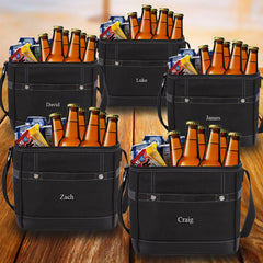Groomsmen Gift Set of 5 Trail Coolers With Built-In Bottle Opener  Black
