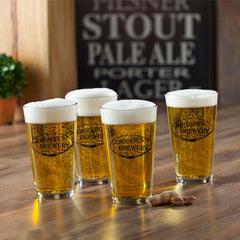 Personalized Beer Glasses - Pub Glasses - Set of 4 - 16 oz.-Weizen-