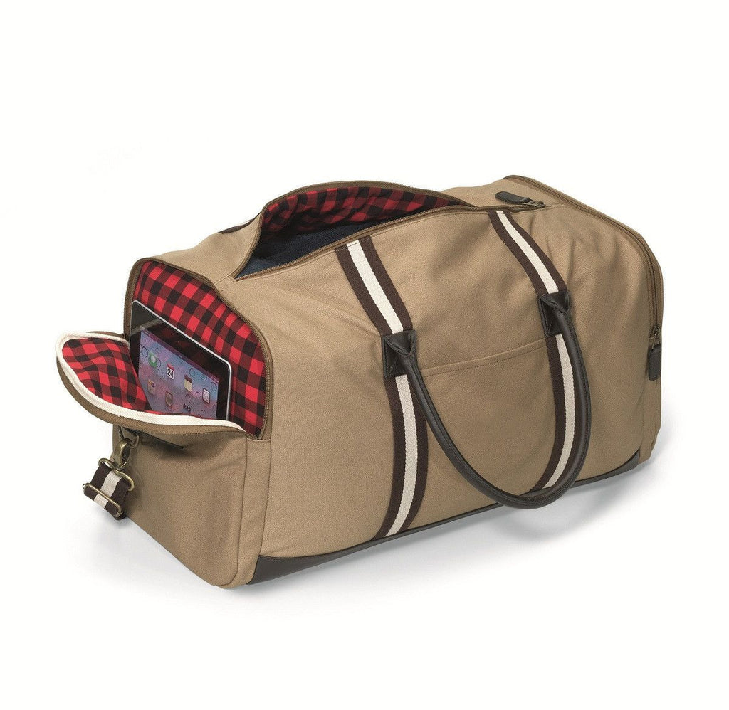 Personalized Trappers Supply Canvas Duffel Bag