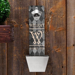 Personalized Bottle Opener - Wall Mounted - Groomsmen Gifts-FamArgyl-