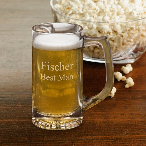 Personalized Beer Mugs - Groomsmen - Sports Mug - 12 oz.