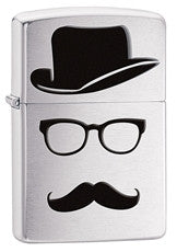 Personalized Lighters - Zippo - Mustache and Hat - Groomsman Gift
