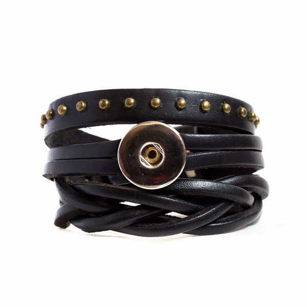 Rodeo Wrap Leather Bracelet - Black