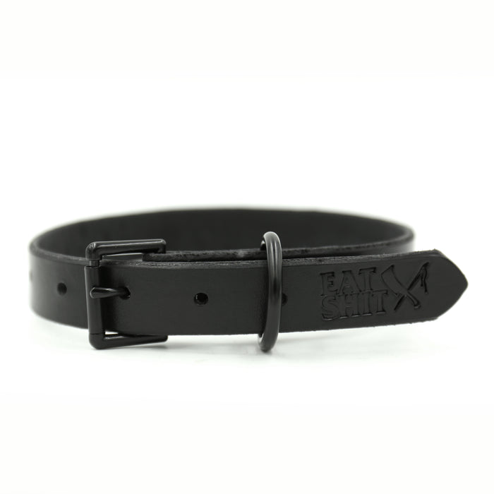 Murdered Out Dog Collar