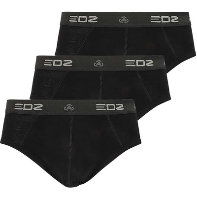 EDZ Merino 200gsm Mens Briefs Black (3 pack)