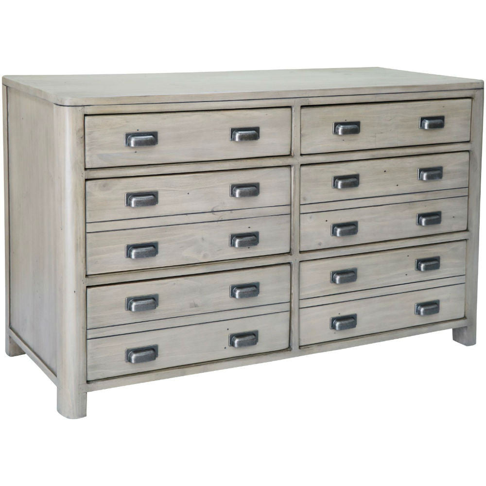Prospero Reclaimed Pine Six Drawer Wide Chest | Annie Mo's