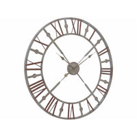 Antiqued Rusty Grey Skeleton Wall Clock | Annie Mo's