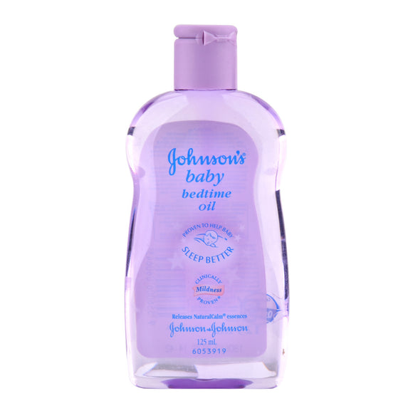 JOHNSON AND JOHNSON'S - BABY OIL 125 ML - BEDTIME - 12CT/CASE