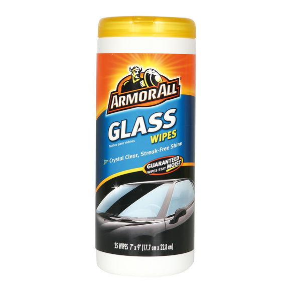 ARMOR ALL - GLASS WIPES 25CT - CASE