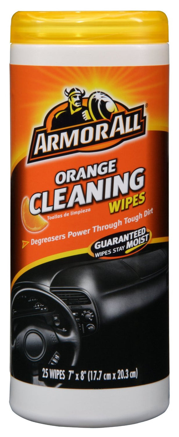 ARMOR ALL - ORANGE CLEANING WIPES 25 CT - CASE