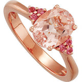 Snazzy Morganite Genuine Gemstone Ring at BitCoin Gems