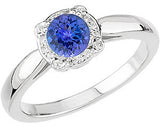 Fine Tanzanite Genuine Gemstone Ring at BitCoin Gems