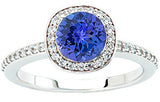 Trendy Tanzanite Genuine Gemstone Ring at BitCoin Gems