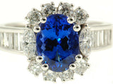 Girly Tanzanite Genuine Gemstone Ring at BitCoin Gems