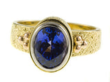Glittering !Tanzanite Genuine Gemstone Ring at BitCoin Gems