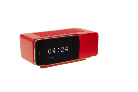 Alarm Dock For Iphone 5 in Red