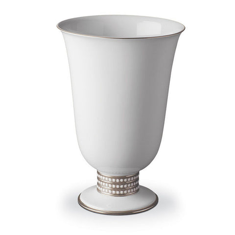 Perlee Platinum Footed Vase