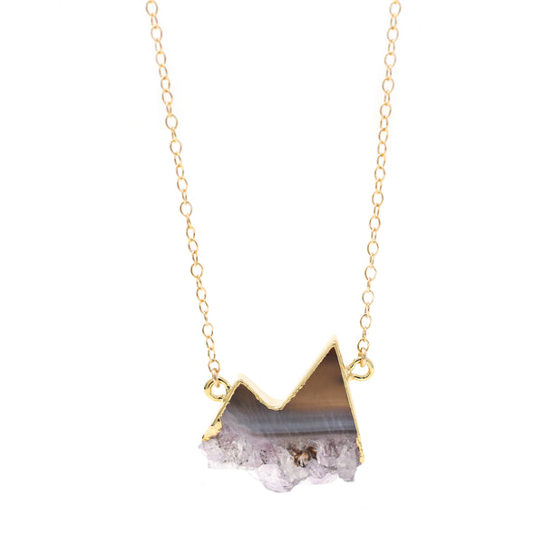 Limited Edition Mountain Amethyst Slice Necklace
