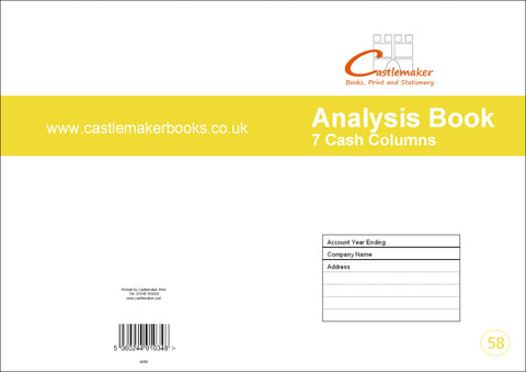 Analysis Book - 7 Cash Column (A4) A058