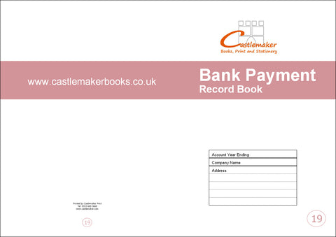 Bank Payment Record Book (A4) B019