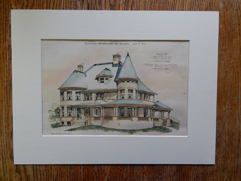 House, Mrs C T Dildine, Kearney, NE, 1890, Original Plan
